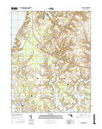 Rock Hall Maryland Current topographic map, 1:24000 scale, 7.5 X 7.5 Minute, Year 2016 from Maryland Map Store