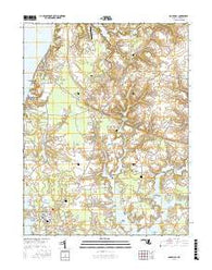 Rock Hall Maryland Current topographic map, 1:24000 scale, 7.5 X 7.5 Minute, Year 2016