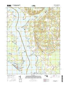 Rock Point Maryland Current topographic map, 1:24000 scale, 7.5 X 7.5 Minute, Year 2016