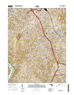Rockville Maryland Current topographic map, 1:24000 scale, 7.5 X 7.5 Minute, Year 2016 from Maryland Map Store