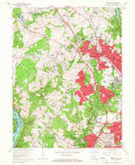 Rockville Maryland Historical topographic map, 1:24000 scale, 7.5 X 7.5 Minute, Year 1965