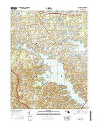 Round Bay Maryland Current topographic map, 1:24000 scale, 7.5 X 7.5 Minute, Year 2016
