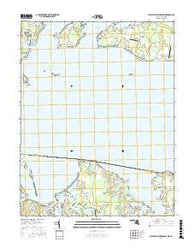 Saint Clements Island Maryland Current topographic map, 1:24000 scale, 7.5 X 7.5 Minute, Year 2016