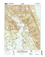 Saint Marys City Maryland Current topographic map, 1:24000 scale, 7.5 X 7.5 Minute, Year 2016 from Maryland Map Store