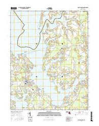 Saint Michaels Maryland Current topographic map, 1:24000 scale, 7.5 X 7.5 Minute, Year 2016