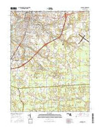 Salisbury Maryland Current topographic map, 1:24000 scale, 7.5 X 7.5 Minute, Year 2016 from Maryland Map Store