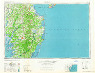 Salisbury Maryland Historical topographic map, 1:250000 scale, 1 X 2 Degree, Year 1965