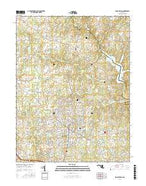 Sandy Spring Maryland Current topographic map, 1:24000 scale, 7.5 X 7.5 Minute, Year 2016 from Maryland Map Store
