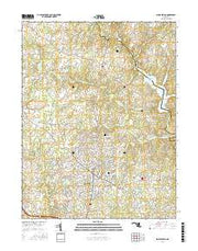 Sandy Spring Maryland Current topographic map, 1:24000 scale, 7.5 X 7.5 Minute, Year 2016 from Maryland Maps Store