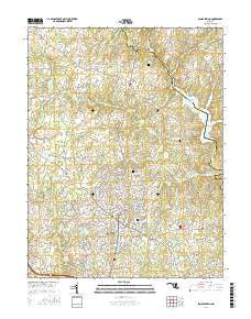 Sandy Spring Maryland Current topographic map, 1:24000 scale, 7.5 X 7.5 Minute, Year 2016