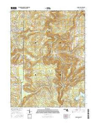 Sang Run Maryland Current topographic map, 1:24000 scale, 7.5 X 7.5 Minute, Year 2016