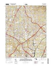 Savage Maryland Current topographic map, 1:24000 scale, 7.5 X 7.5 Minute, Year 2016 from Maryland Maps Store