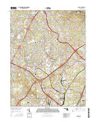 Savage Maryland Current topographic map, 1:24000 scale, 7.5 X 7.5 Minute, Year 2016