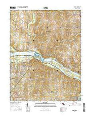 Seneca Maryland Current topographic map, 1:24000 scale, 7.5 X 7.5 Minute, Year 2016 from Maryland Maps Store