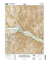 Seneca Maryland Current topographic map, 1:24000 scale, 7.5 X 7.5 Minute, Year 2016