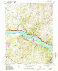 Seneca Maryland Historical topographic map, 1:24000 scale, 7.5 X 7.5 Minute, Year 1968