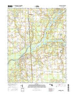 Sharptown Maryland Current topographic map, 1:24000 scale, 7.5 X 7.5 Minute, Year 2016 from Maryland Map Store