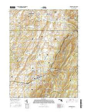 Smithsburg Maryland Current topographic map, 1:24000 scale, 7.5 X 7.5 Minute, Year 2016 from Maryland Maps Store
