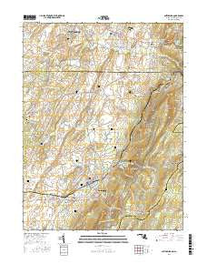 Smithsburg Maryland Current topographic map, 1:24000 scale, 7.5 X 7.5 Minute, Year 2016