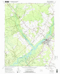 Snow Hill Maryland Historical topographic map, 1:24000 scale, 7.5 X 7.5 Minute, Year 1966