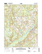 Snow Hill Maryland Current topographic map, 1:24000 scale, 7.5 X 7.5 Minute, Year 2016 from Maryland Map Store