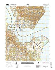 Solomons Island Maryland Current topographic map, 1:24000 scale, 7.5 X 7.5 Minute, Year 2016 from Maryland Maps Store