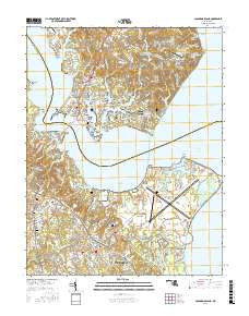 Solomons Island Maryland Current topographic map, 1:24000 scale, 7.5 X 7.5 Minute, Year 2016