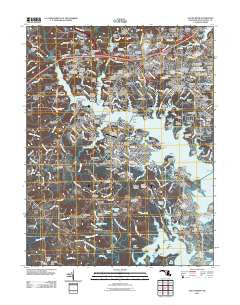 South River Maryland Historical topographic map, 1:24000 scale, 7.5 X 7.5 Minute, Year 2011