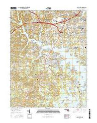 South River Maryland Current topographic map, 1:24000 scale, 7.5 X 7.5 Minute, Year 2016