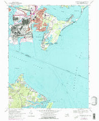 Sparrows Point Maryland Historical topographic map, 1:24000 scale, 7.5 X 7.5 Minute, Year 1969