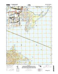 Sparrows Point Maryland Current topographic map, 1:24000 scale, 7.5 X 7.5 Minute, Year 2016