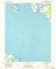St. George Island Maryland Historical topographic map, 1:24000 scale, 7.5 X 7.5 Minute, Year 1968