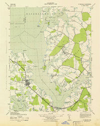 St. Michaels Maryland Historical topographic map, 1:31680 scale, 7.5 X 7.5 Minute, Year 1943