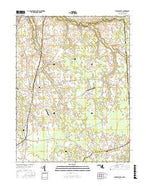 Sudlersville Maryland Current topographic map, 1:24000 scale, 7.5 X 7.5 Minute, Year 2017 from Maryland Map Store