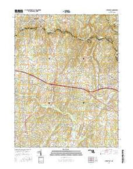 Sykesville Maryland Current topographic map, 1:24000 scale, 7.5 X 7.5 Minute, Year 2016