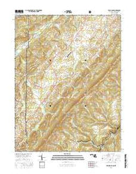 Table Rock Maryland Current topographic map, 1:24000 scale, 7.5 X 7.5 Minute, Year 2016