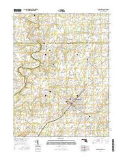 Taneytown Maryland Current topographic map, 1:24000 scale, 7.5 X 7.5 Minute, Year 2016 from Maryland Maps Store