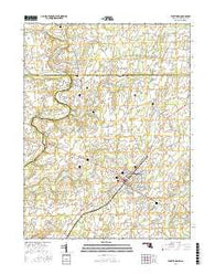 Taneytown Maryland Current topographic map, 1:24000 scale, 7.5 X 7.5 Minute, Year 2016