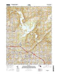 Towson Maryland Current topographic map, 1:24000 scale, 7.5 X 7.5 Minute, Year 2016