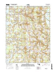 Trappe Maryland Current topographic map, 1:24000 scale, 7.5 X 7.5 Minute, Year 2016