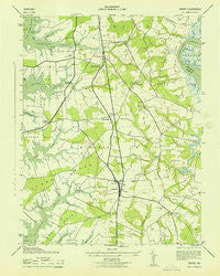 Trappe Maryland Historical topographic map, 1:31680 scale, 7.5 X 7.5 Minute, Year 1943