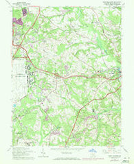 Upper Marlboro Maryland Historical topographic map, 1:24000 scale, 7.5 X 7.5 Minute, Year 1965