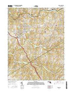 Urbana Maryland Current topographic map, 1:24000 scale, 7.5 X 7.5 Minute, Year 2016 from Maryland Map Store