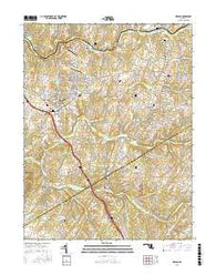 Urbana Maryland Current topographic map, 1:24000 scale, 7.5 X 7.5 Minute, Year 2016