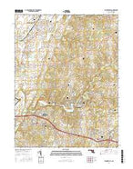 Walkersville Maryland Current topographic map, 1:24000 scale, 7.5 X 7.5 Minute, Year 2016 from Maryland Map Store
