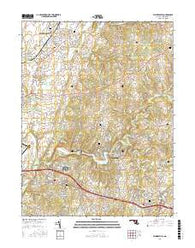 Walkersville Maryland Current topographic map, 1:24000 scale, 7.5 X 7.5 Minute, Year 2016
