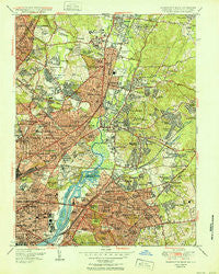 Washington East District of Columbia Historical topographic map, 1:24000 scale, 7.5 X 7.5 Minute, Year 1951