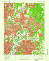 Washington East District of Columbia Historical topographic map, 1:24000 scale, 7.5 X 7.5 Minute, Year 1956