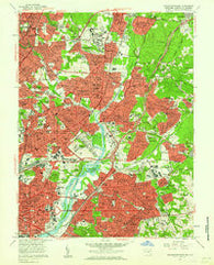 Washington East District of Columbia Historical topographic map, 1:24000 scale, 7.5 X 7.5 Minute, Year 1957