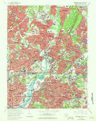 Washington East District of Columbia Historical topographic map, 1:24000 scale, 7.5 X 7.5 Minute, Year 1965